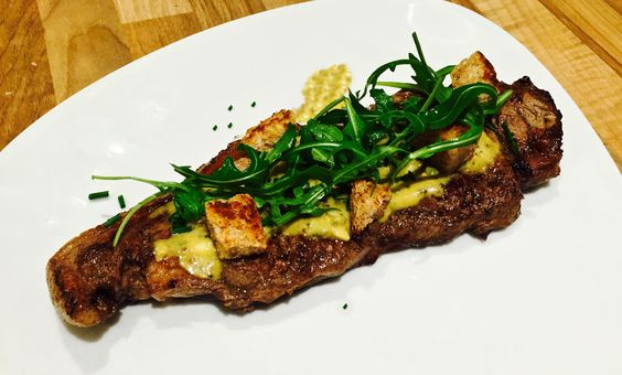 Flash Fried Sirloin Steak with Mustard Seed Dressing