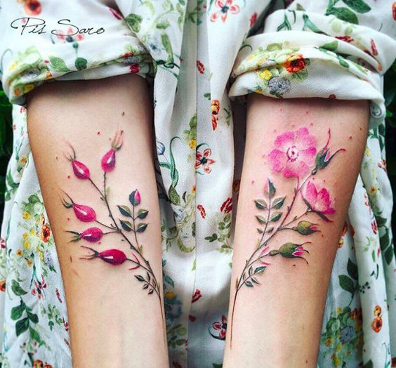 épinglé par ❃❀CM❁✿17 Images Of Amazingly Beautiful Botanical Tattoos