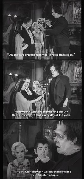 The Munsters at Halloween. ☀