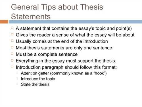 Succinct Thesi Statement Example Essay Introduction Paragraph Where I A In An