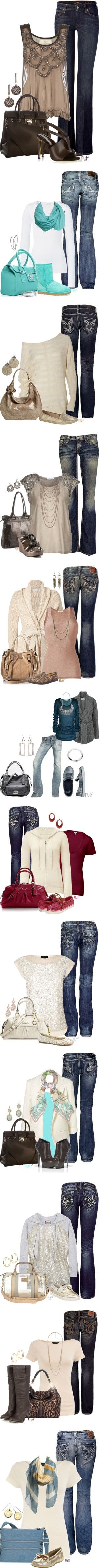 """""""Jean Sets"""" by fluffof5 on Polyvore: Fall Fashions, Cute Outfits With Jeans, Outfit Ideas, Jeans Outfits, Dream Closet, Fall Outfits, Jean Outfits, Fall Styles"""