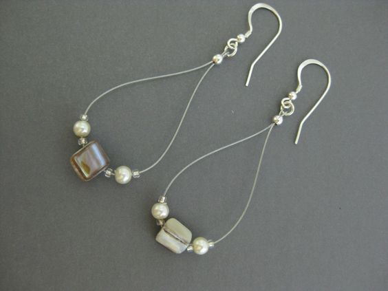 Earrings, E 137, Long, Pearl, Dangle, Sterling Silver, Jewelry by InformalElegance on Etsy. $18.00, via Etsy.