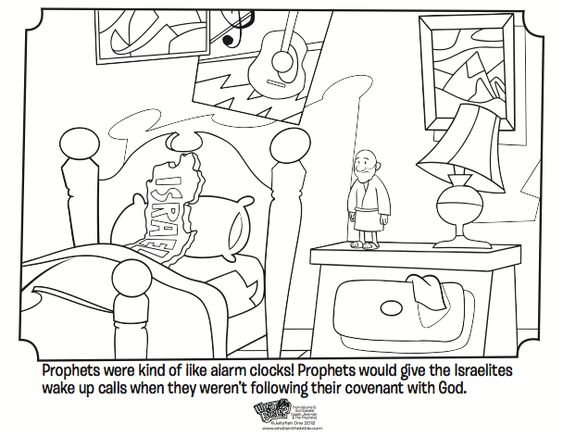 kids coloring page from whats in the bible showing how prophets were kind of like - Isaiah Coloring Pages For Kids