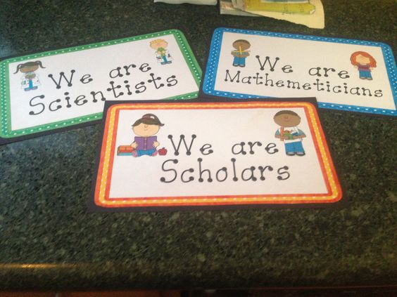 These headers label each of the areas of my classroom.  They are free at my TPT store.