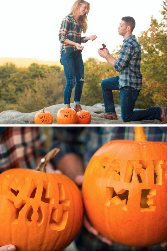 This pumpkin carving proposal is so creative and perfect for fall!