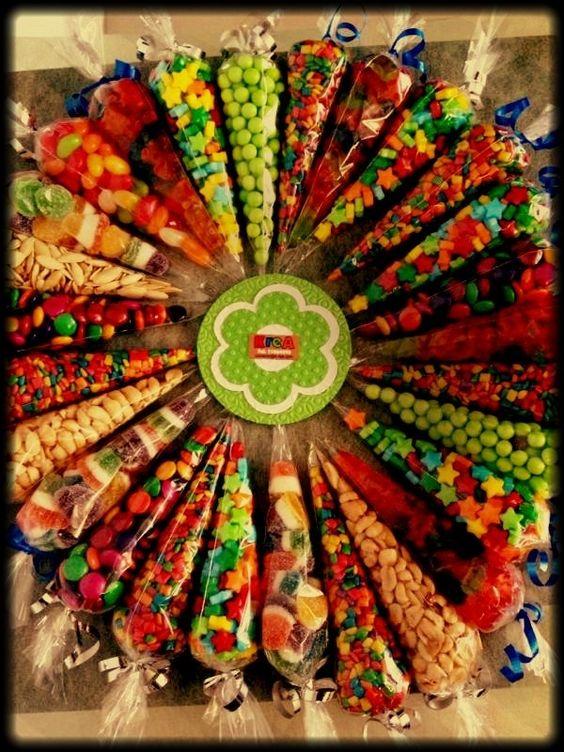 Mesa De Botanas Para Fiesta | conos de dulces o botanas para fiestas hacemos envios: