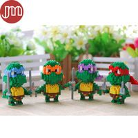 New 4 Styles TMNT Teenage Mutant Blocks Ninja Turtles Models Building Toys Classic Collection Birthday Gifts Free Tracking