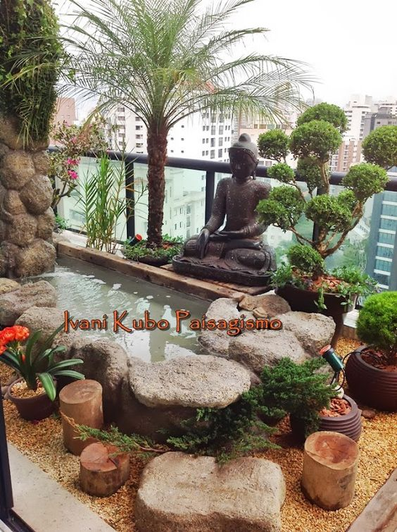 Pinterest the world s catalog of ideas for Balcony zen garden