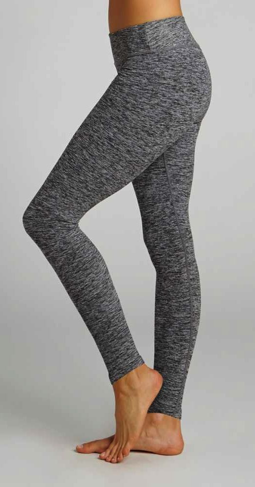 New: Salt & Pepper Long Legging by BEYOND YOGA in Black Spacedye available at Pure Barre Lakeview!