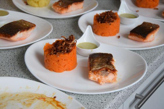 von kuechenereignisse.com  Lachs mit Kokossauce und Kartoffelpüree