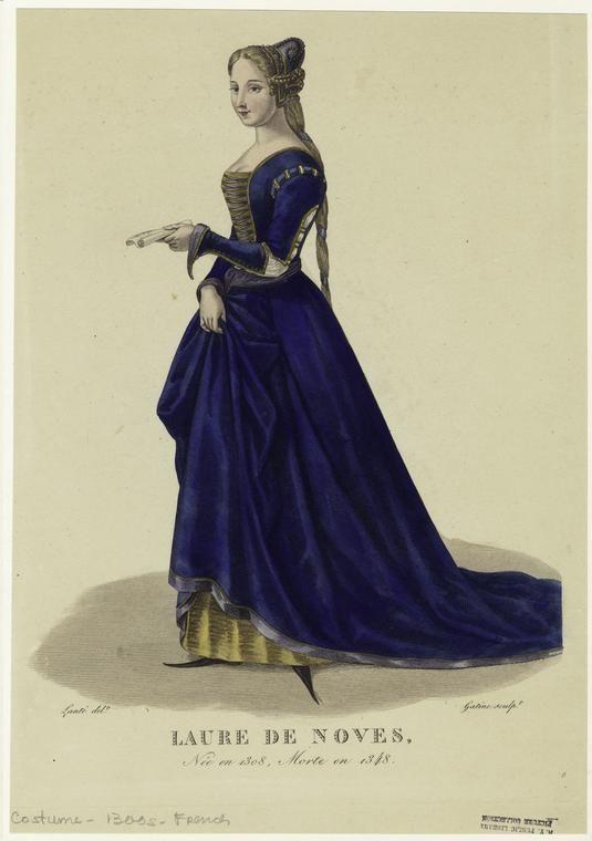 Laure de Noves, née en 1308, morte en 1348.