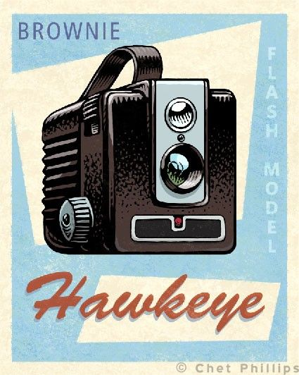 Hawkeye by ChetArt on Etsy, $18.00
