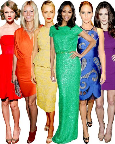 A rainbow of red carpet gowns