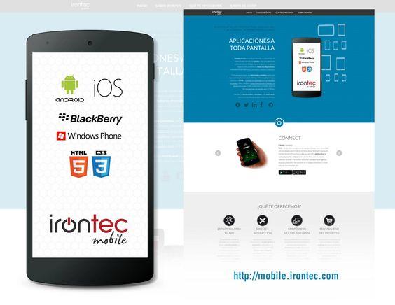 Microsite de nuestro departamento de aplicaciones móviles: http://mobile.irontec.com