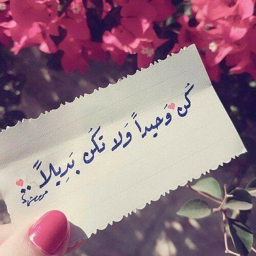 رمزيات حكم أقوال اقتباسات حالات واتساب كن وحيدا ولا تكن بديلا Cover Photo Quotes Beautiful Arabic Words Islam Facts
