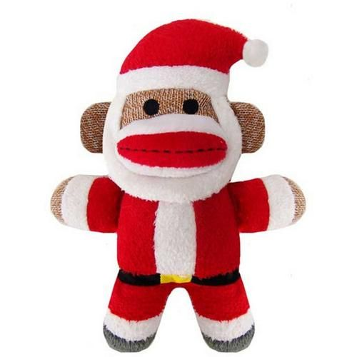 Huxley Kent Santa Sock Monkey Dog Toy In 2020 Santa Socks Dog