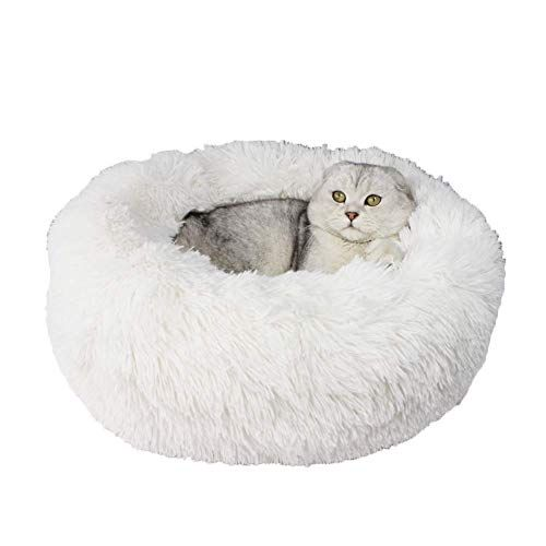 Xiajie Pet Bed Fluffy Luxe Soft Plush Round Cat And Dog Bed Donut Cat And Dog Cushion Bed Self Warming And Improved Sleep Ortho Dog Mattresses Pets Dog Cat