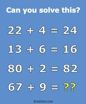 Brain Teaser Number And Math Puzzle Math Problem For Geniuses Can You Solve This 22 Maths Puzzles Math Puzzles Brain Teasers Math Riddles Brain Teasers