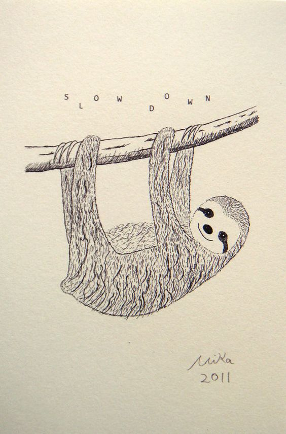 how to draw a sloth step by step for kids