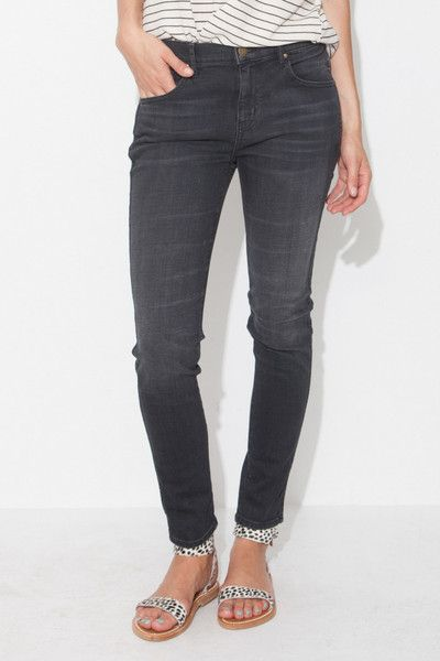 Worn Black Almost Skinny Jean by The Great | shopheist.com | The ...