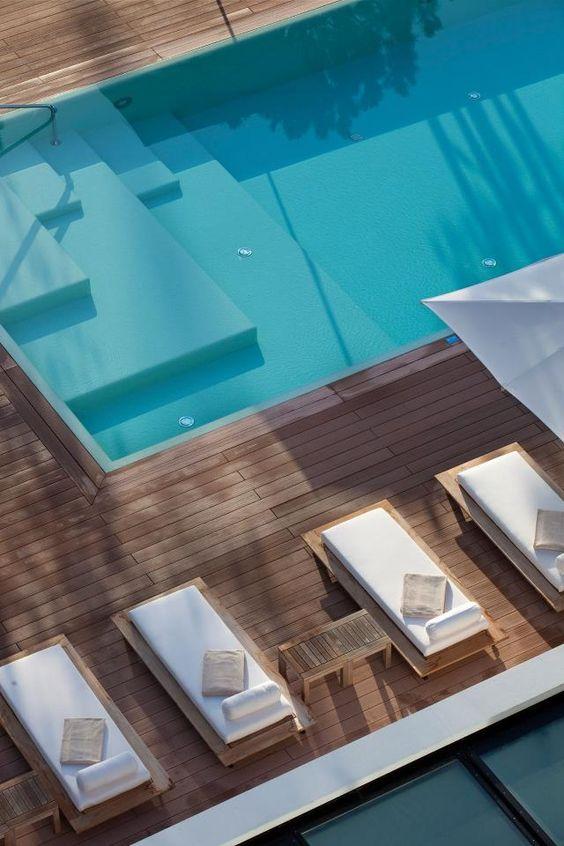 Deck exterior pavimento de madera para exteriores suelos for Pavimento para piscinas