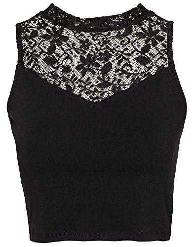 NLY Trend Women's Cropped Lace Highneck Top Black X-Small NLY Trend http://www.amazon.com/dp/B00PVWA3IQ/ref=cm_sw_r_pi_dp_XB1Pvb1V69BFW