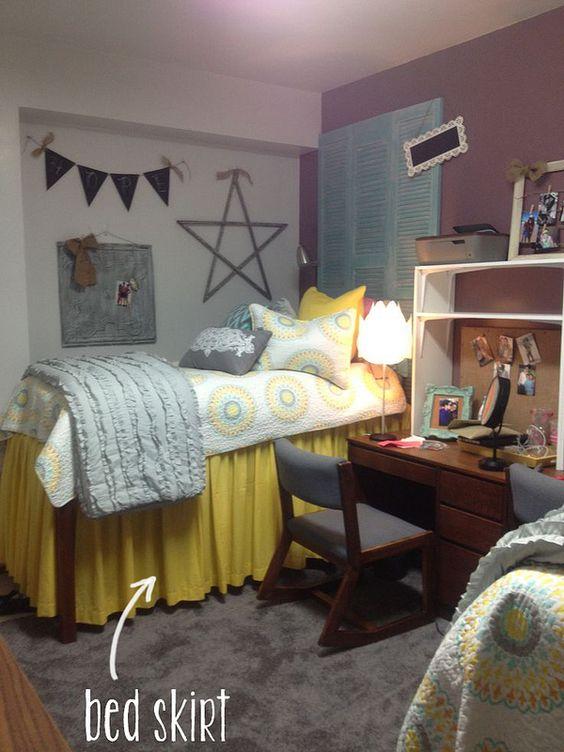 extra long bed skirt the better martha talks dorm decor home pinterest skirts the. Black Bedroom Furniture Sets. Home Design Ideas