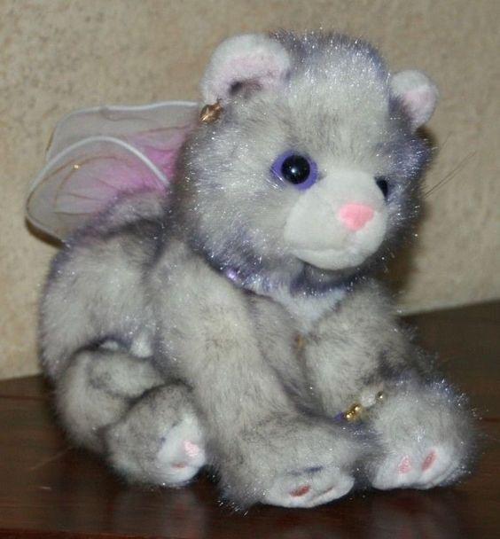 Aurora Cat Catapillers Purple Gray Plush Wing Jewelry Catapillars stuffed toy