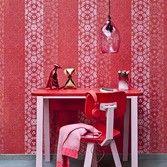 Behang rood roze streep Impulse - BN Wallcoverings