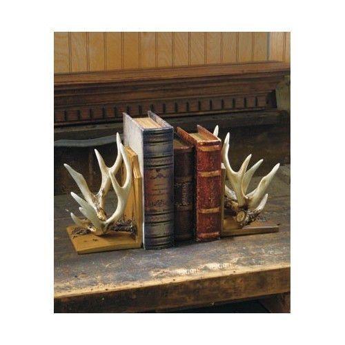 Pinterest the world s catalog of ideas - Deer antler bookends ...