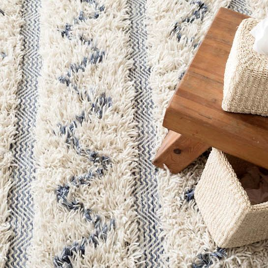 Zags Denim Woven Wool Rug The Outlet Natural Wool Rugs Wool