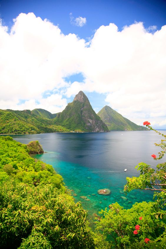 St. Lucia..I've been lucky enough to snorkel between the Pitons; pure bliss!