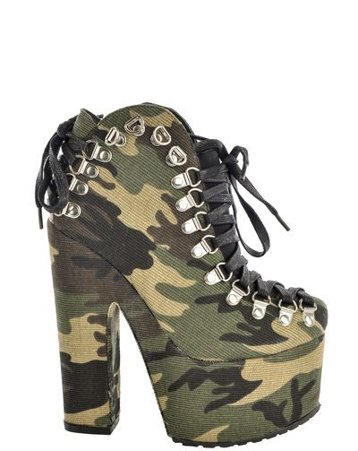 Yasmine Camouflage Shoe