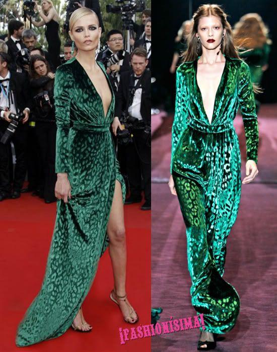 Natasha Poly de Gucci en la alfombra roja de Cannes