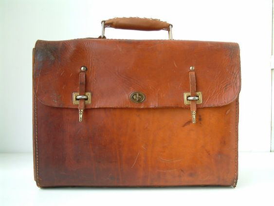 Vintage french leather electricians tool bag. by Chanteduc on Etsy