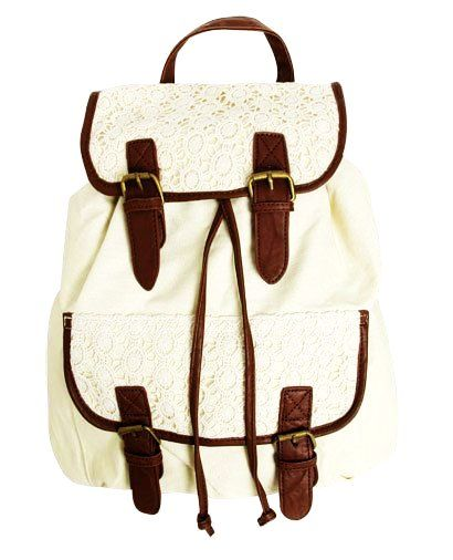 Backpacks for girls, Lace backpack and For girls on Pinterest