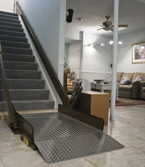Inclined platform wheelchair lifts an interesting home for Wheelchair accessible houses