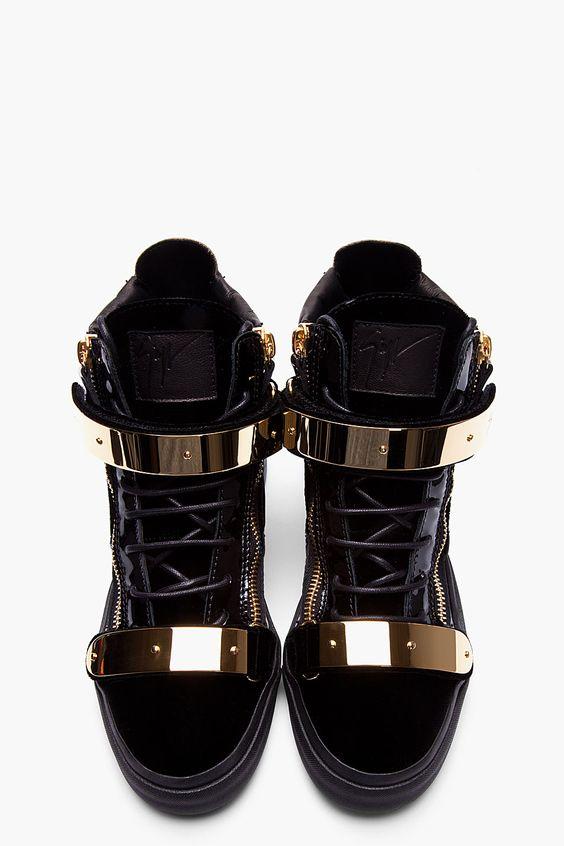 giuseppe zanotti gold bar sneakers movie
