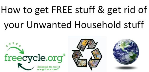 This is such a brilliantly EASY system of getting rid of stuff you no longer want and getting free stuff that you need! I love it - FREEcycle - Read about it and try it today!
