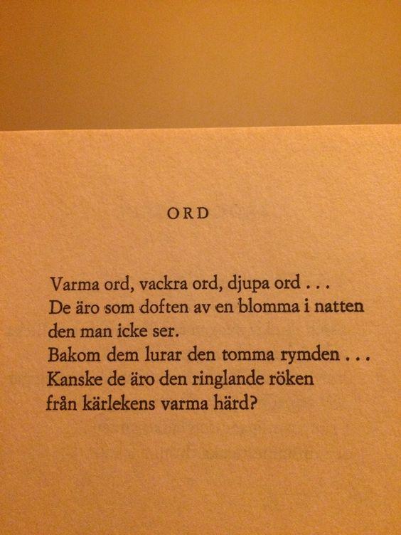 Ord - Edith Södergran: