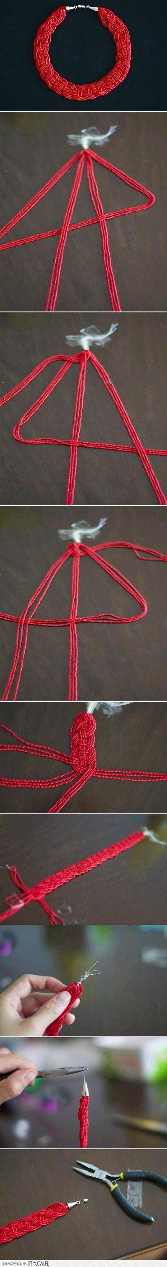 DIY Pretty Bead Necklace DIY Projects | UsefulDIY.com na Stylowi.pl