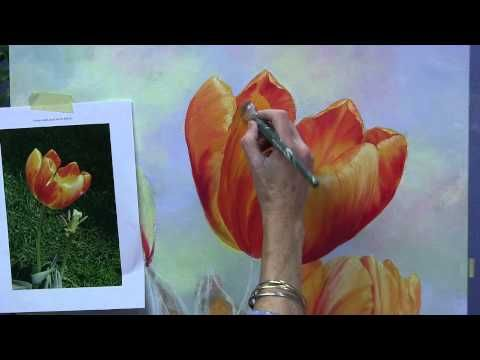 Painting Tulips in Acrylics Preview
