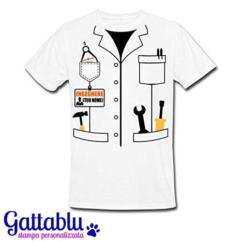personalizzabile T-shirt donna Finto Camice Dottoressa idea regalo laurea!