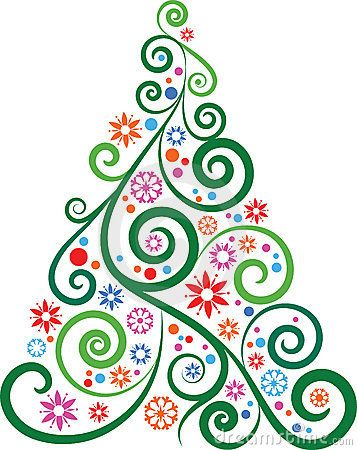 Royalty Free Stock Image: Artistic Christmas tree. Image: 12097596: