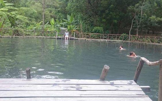 Visist the medicinal waters of Agua Blanca in Puerto Lopez