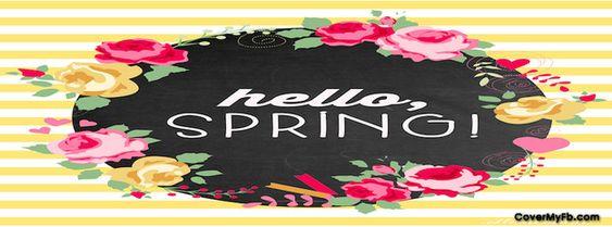 Hello Spring Facebook Cover