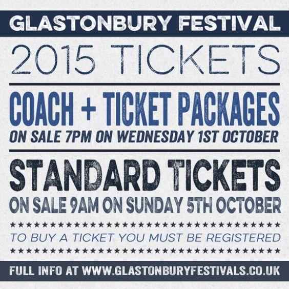 Glastonbury Festival 2015 - Ticket registration opens