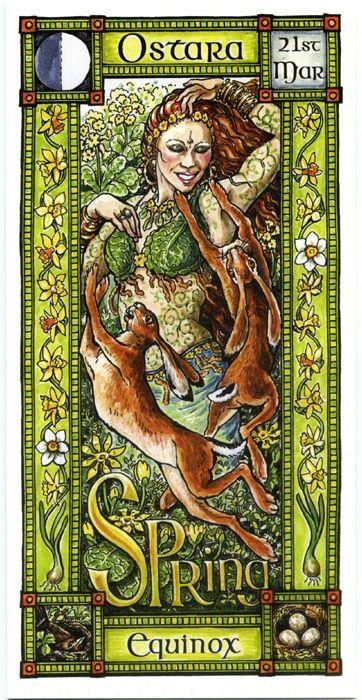 Der Frühling kommt und mit ihm erwachen die Lebensgeister - The Goddess and the Green Man | Ostara Spring Equinox | Ostara