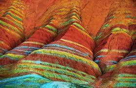 Картинки по запросу цветные горы китая