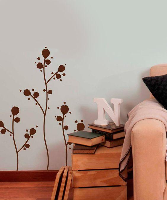 Eco solitarios vinilo adhesivo decoraci n de paredes for Decoracion paredes vinilos adhesivos